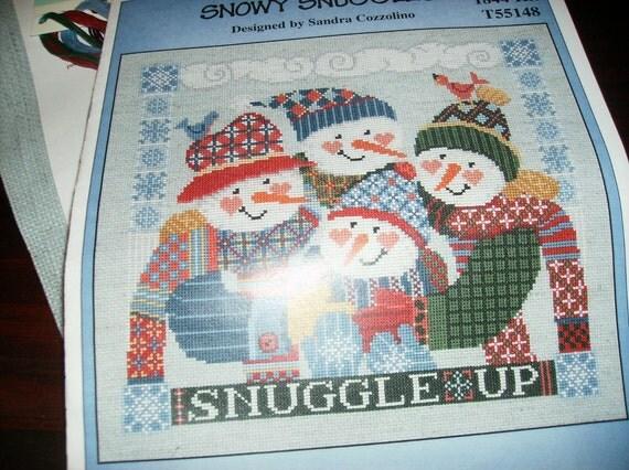 Snow Snuggles Imaginating 1844 T55148 Counted Cross Stitch Kit Sandra Cozzolino