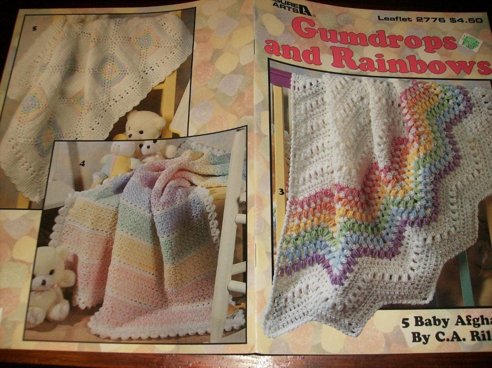 Baby Afghan Crochet Patterns Gumdrops and Rainbows Afghan