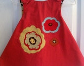 Reversible Pinafore and Matching Bloomers/Pantaloons Size 2T, 3T, 4T