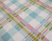 Vintage sheet fat quarter - pastel plaid