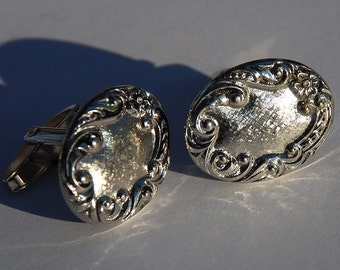 Vintage Sarah Coventry Silver Cufflinks