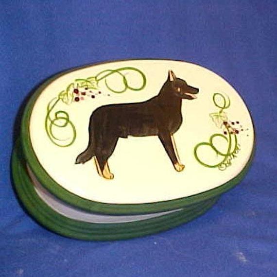 Beauceron Dog  Trinket Treat Treasure Box Original Handpainted Or Your Dog Breed Custom Made