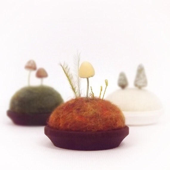 Microcosm Autumn Mushroom Miniature Scene Nature Display Collectible Made To Order