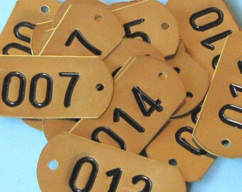 3 Vintage Antique Brass Number Tags Brass Numbered Tag Hotel Room Number Tag Locker Tag Tags Steampunk Jewelry DIY Jewelry
