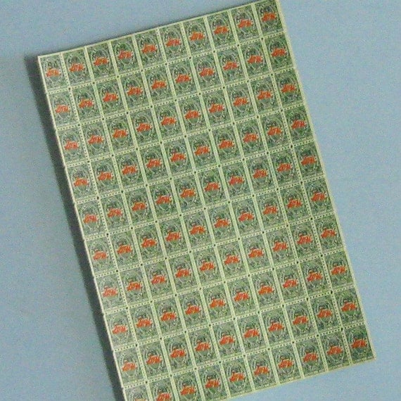 100 Vintage Discount Stamps S&H Green Stamps  Discount Stamps Stamp Assemblage Scrapbooking Stamps