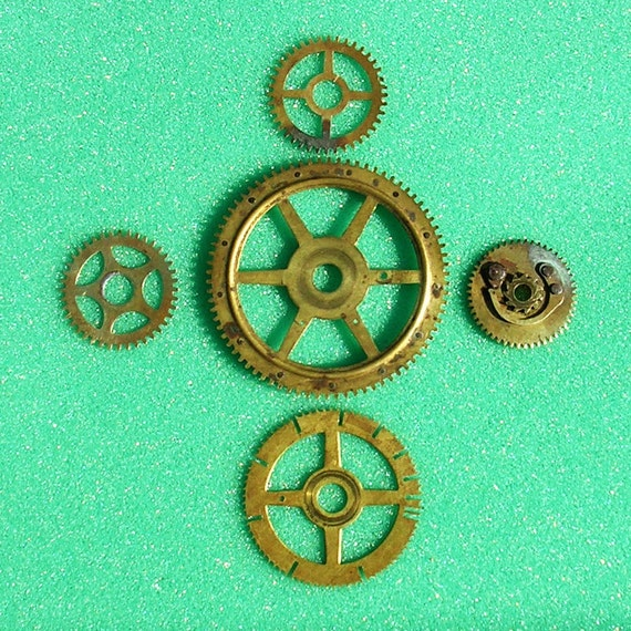 Antique Wheels And Gears : Antique clock wheel wheels parts gears cog cogs