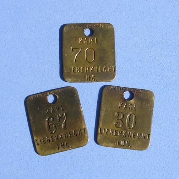 Vintage Brass Tags 31