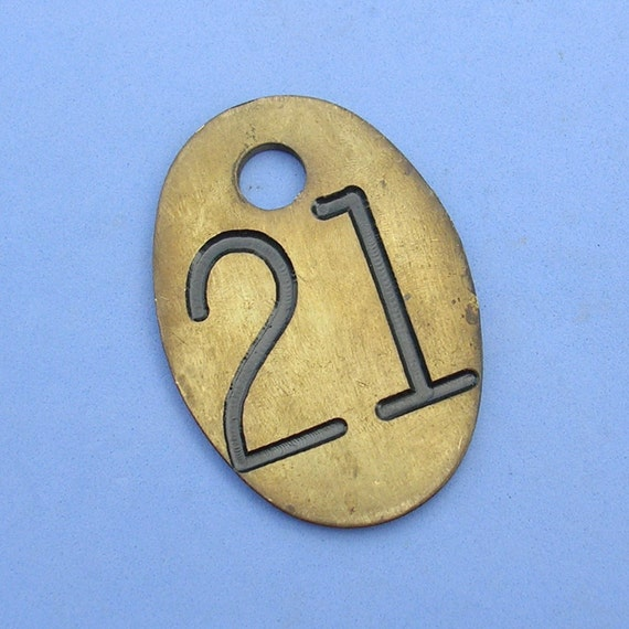 Huge Vintage Brass Cow TagTags Number Tag Tags Brass Numbered Tag Steampunk DIY Jewelry Tag