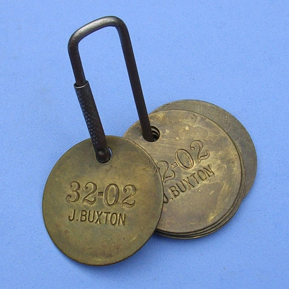 Vintage Brass Tags 26