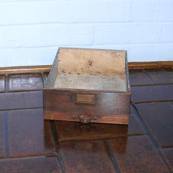 Vintage Wood And Metal Drawer Industrial Metal Drawer Vintage Wood Wooden Drawer