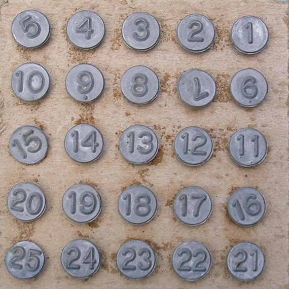 Vintage Numbered Tacks Tack Markers Numbering Tacks Screen Markers DIY Jewelry Steampunk Pendant Earring Earrings