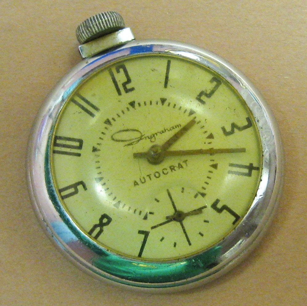 antique pocket pocketwatch ingraham autocrat pocketwatch