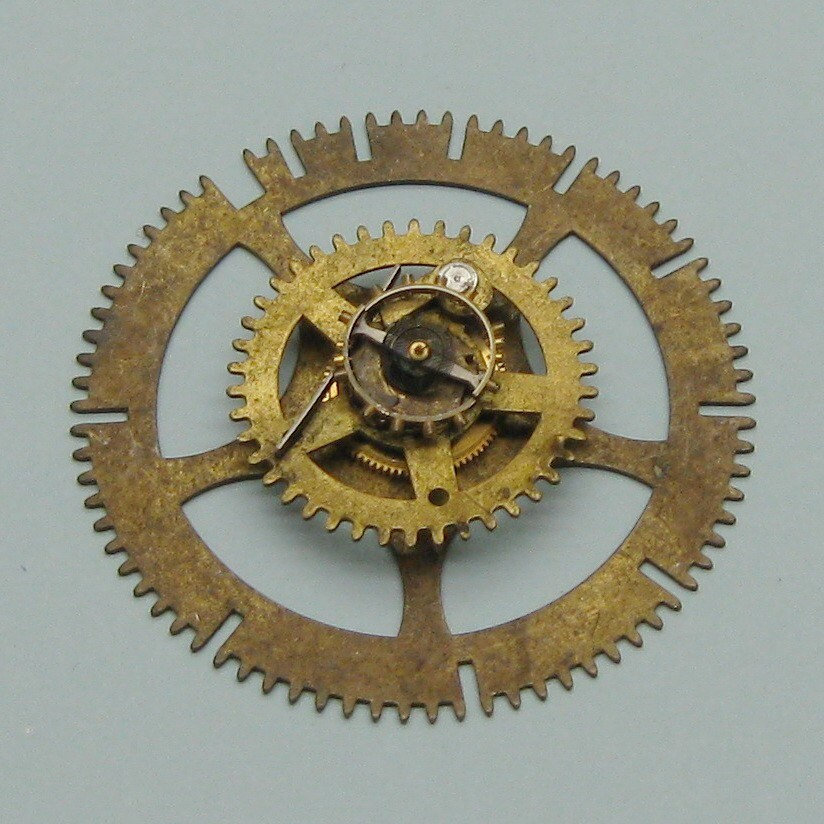Antique Wheels And Gears : To inch vintage brass clock gears wheels cogs