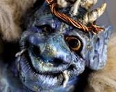 Monster Art Doll, Blue Horned Mountain Troll, Quarteroff the Troll