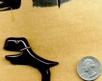 Art Deco Black Bakelite Scottie Dog Pin
