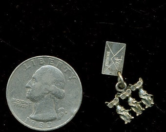 1960s Sterling Three Blind Mice Charm from New Mexico