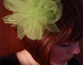 Lime Tulle Flower