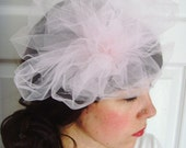Giant Pink Puff Veil