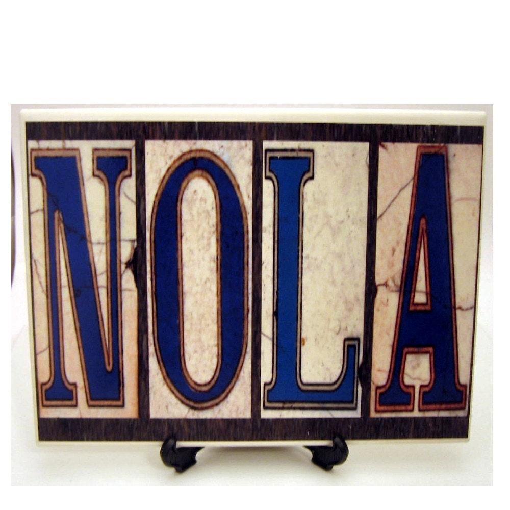 Nola New Orleans Street Tile Trivet By Neworleanstiles On Etsy