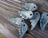 Winter Frost Wings for your Love...or You ...One Pair of Raku Wings