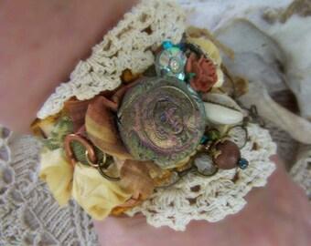 The Bell Ringer A Parisian Dream Assemblage Art Cuff Bracelet