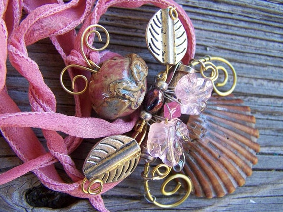 Introducing Miss Sassy Pretty In Pink OOAK Assemblage Statement Necklace