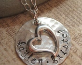Personalized Necklace -  A Mothers Love hand stamped necklace  - mothers necklace