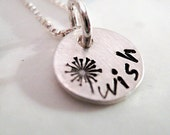 Tiny Wish hand stamped necklace