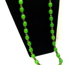 Authentic Vintage Green Bakelite Necklace