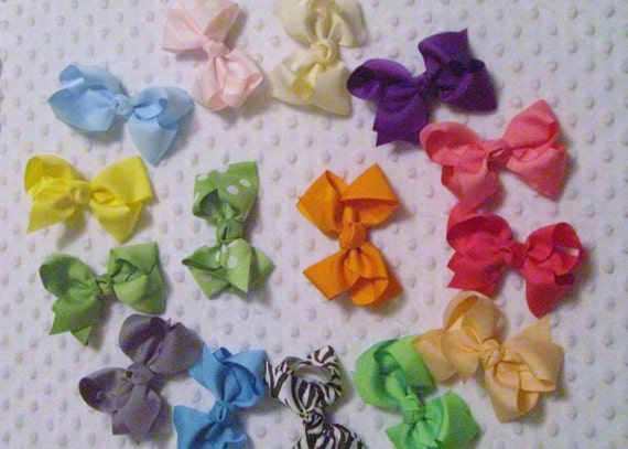 Large Size Grosgrain Ribbon Hairbow You Chose the Color