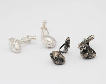 Human Heart cufflinks - men's jewellery / wedding / groom / groomsman / love / anniversary / valentines / boyfriend / doctor