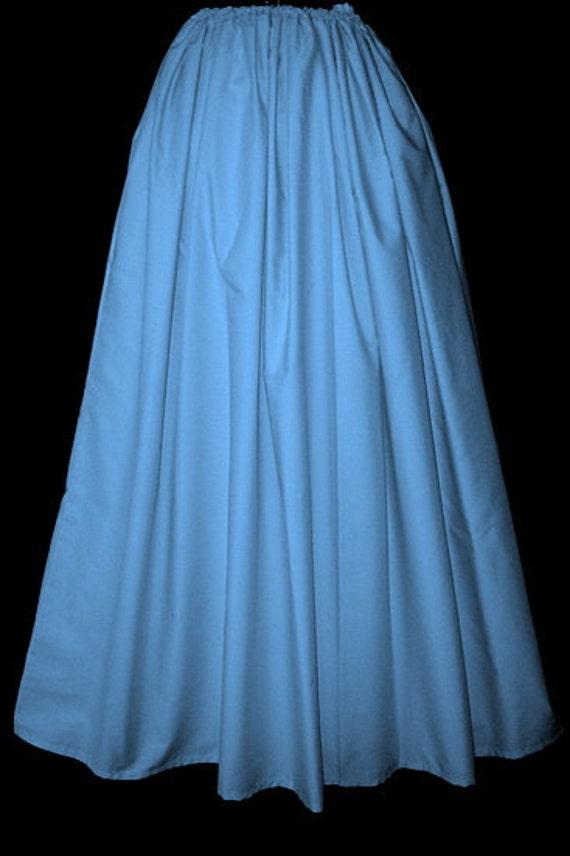 light blue elastic waist skirt by granddutchess on etsy