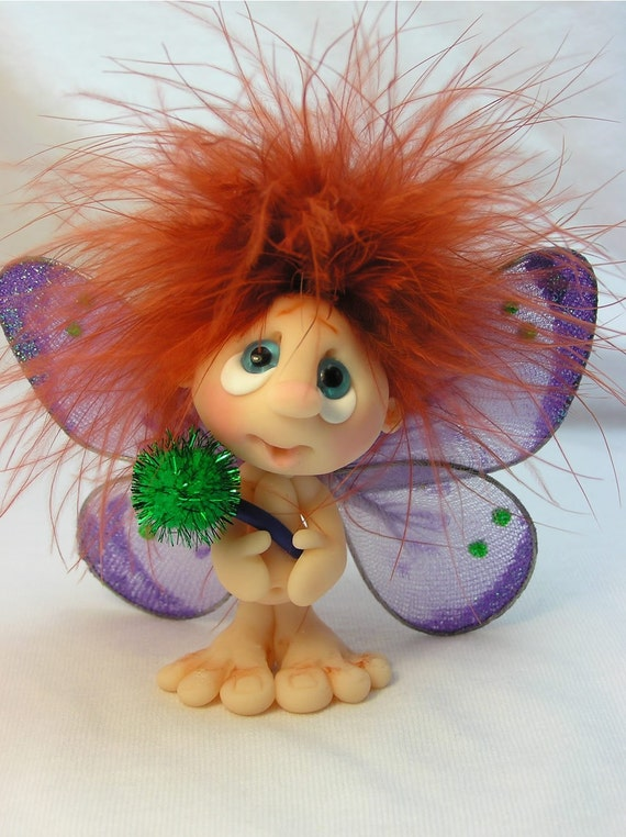Ooak Polymer Clay Museling Fairy W Wand