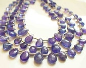 Extremly Beautiful Glossy Tanzanite Smooth Polished Beads--10 inches