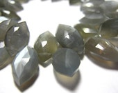 Full Strand- Gray Moonstone Faceted Marquiose - 7 Inches