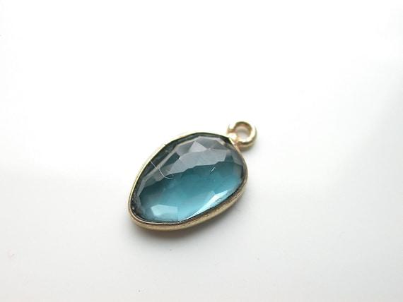 Very Unique- One Beautiful  London Blue Topaz vermeil Pendant