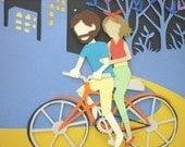 NYC Bike Ride - OOAK Paper Collage
