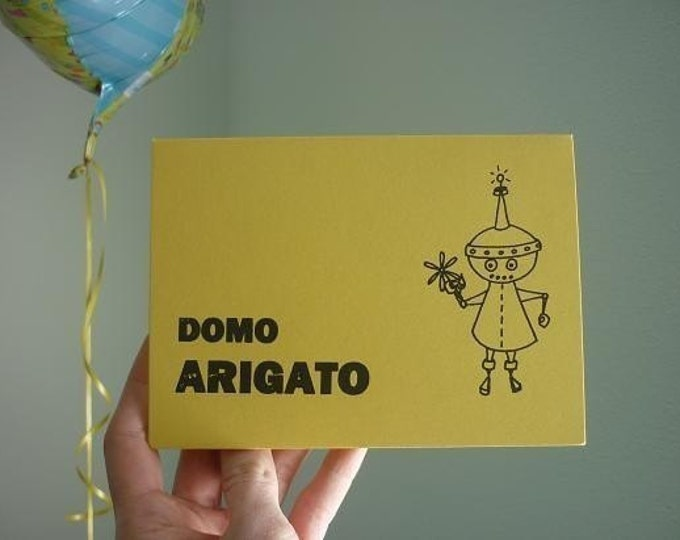 Thank You Card - Domo Arigato - Gocco Card from PaperMichelle