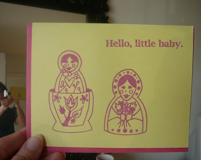 New Baby Card - Gocco - Hello, Little Baby from PaperMichelle