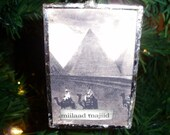 Arabic (Merry Christmas) soldered ornament (miilaad majiid)