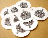 Royal seal. Envelope stickers
