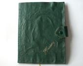 SALE - 10% off /// Handmade book. Bound in vintage hosiery wallet.