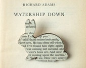 Watership Down - Rabbit brooch. Classic book brooches made with original pages. - houseofismay