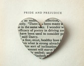 Pride and Prejudice - Heart brooch. Classic book brooches made with original pages.