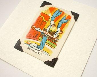 Acrobats - blank greeting card