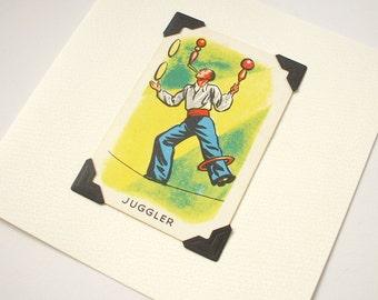 Juggler - blank greeting card