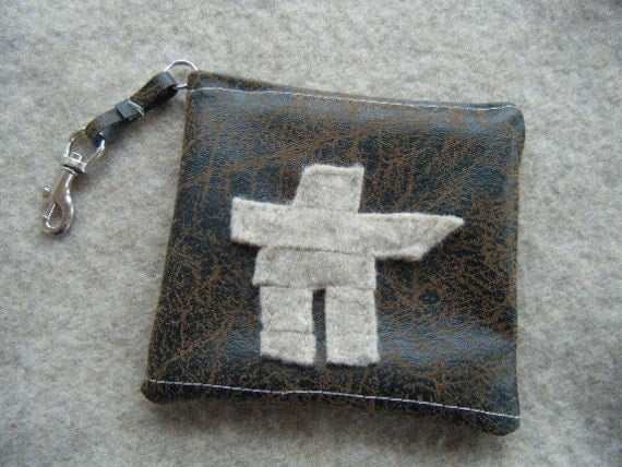 Inukshuk Not Just for Coins Pouch