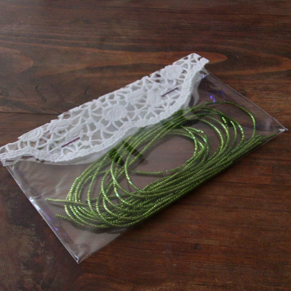 bright green crinkle wire bullion