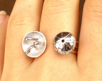 Invisible ring-sterling silver