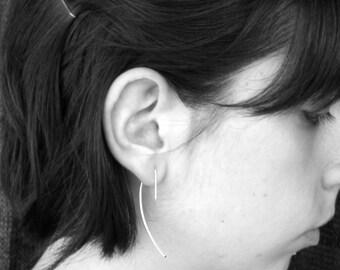 Arc Earrings-sterling silver